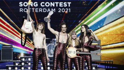 """Zitti e buoni"" i Måneskin vincono l'Eurovision  2021"