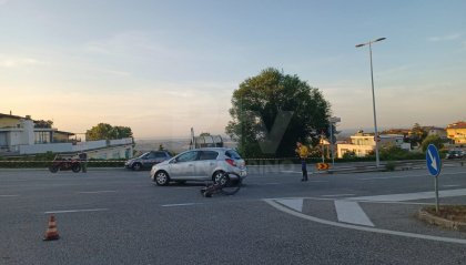 Scontro auto-bici a Domagnano, ciclista finisce al pronto soccorso