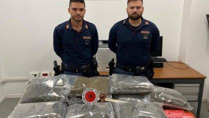 Trovati 10 kg di  marijuana nel garage: 19enne di Rimini finisce in carcere