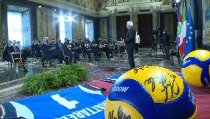 L'Italia del Volley festeggia i suoi ori: azzurri e azzurre da Mattarella e Draghi