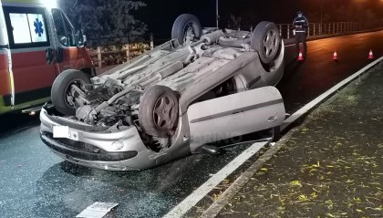 Incidente a Verucchio, cappotta auto sammarinese